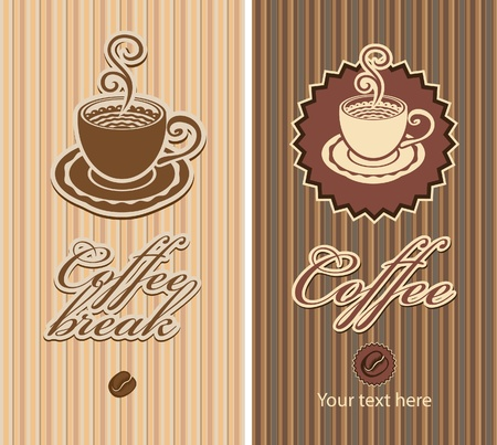 two banners for a coffee break Vector