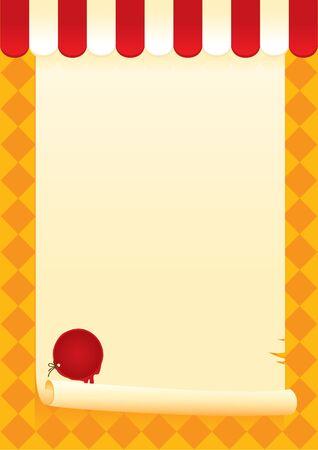 vellum: banner con una pergamena e sigillato Vettoriali