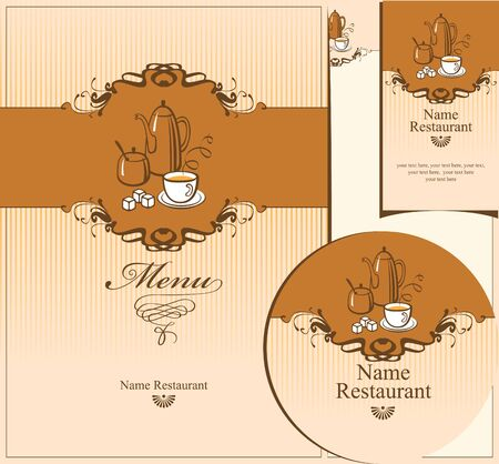 set of design elements for the cafe Stock Vector - 14645283