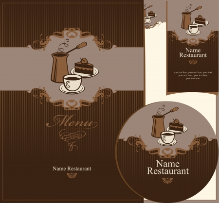 set of elements for design of cafe Vector