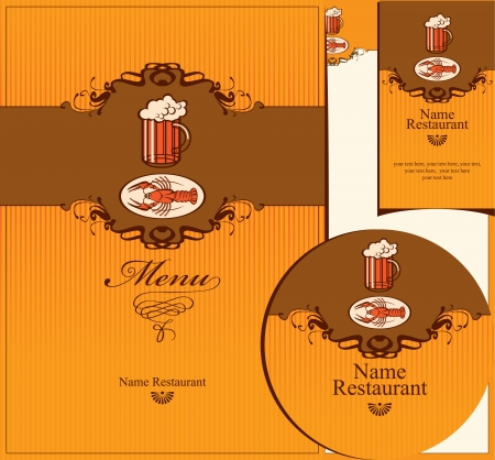 set of design elements for the pub Stock Vector - 14645287