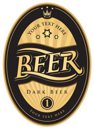 beer label: labels for the beer in the black gold color