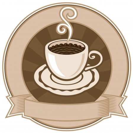 banner with a cup of coffee Stock Vector - 14738014