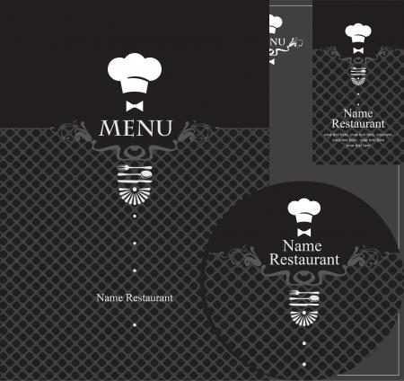 cook hats: elementos de dise�o para un restaurante en el negro