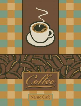 sip: banner con una taza de caf� y granos Vectores