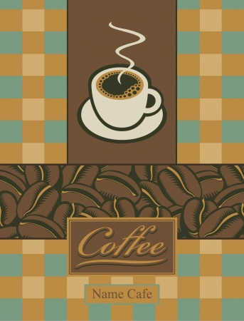 sip: banner with a cup of coffee and grains