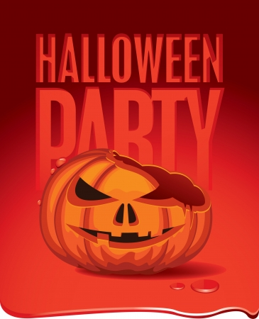 banner with pumpkin for Halloween Vector