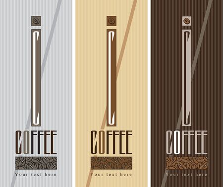 three banners for coffee beans Vector