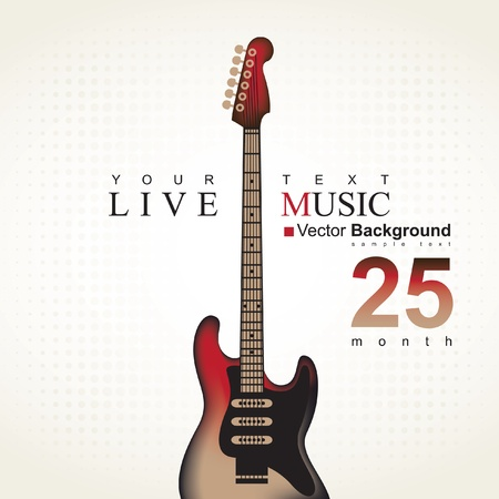 live band: poster with an electric guitar