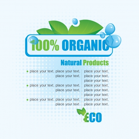 Ecological banner 100% natural product  Vector