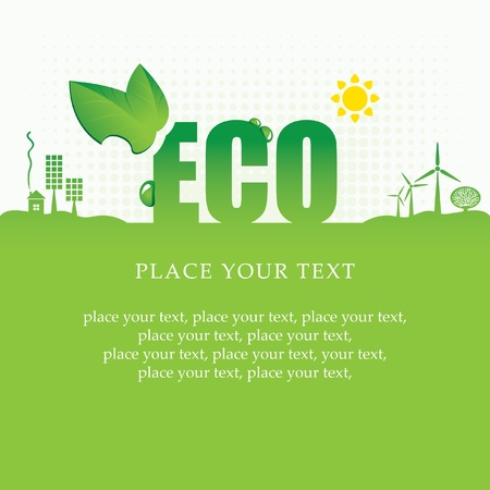 alternatives: eco banner of alternative energy sources