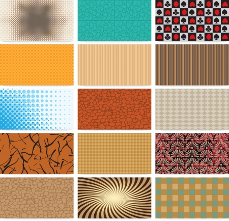 set of abstract backgrounds for business cards Vector