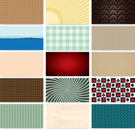 set of abstract backgrounds for business cards Stock Vector - 15660087