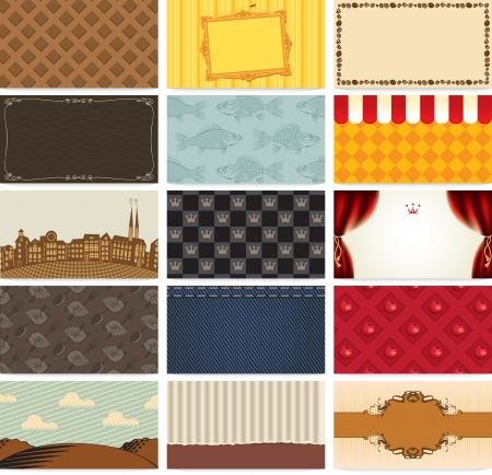 set art backgrounds for business cards Vector