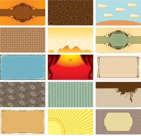 set art backgrounds for business cards  Stock Vector - 15770432