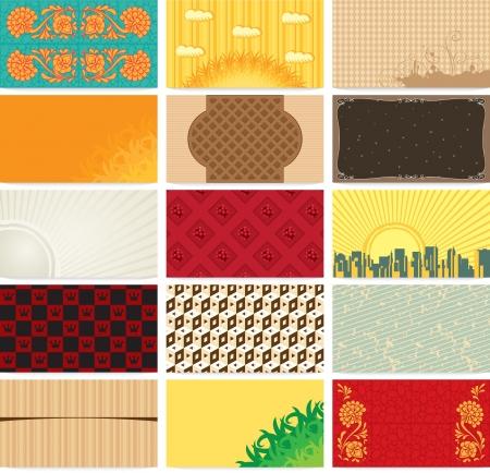 set art backgrounds for business cards  Vector
