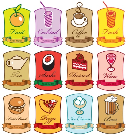 cheeseburger: set of characters with different dishes
