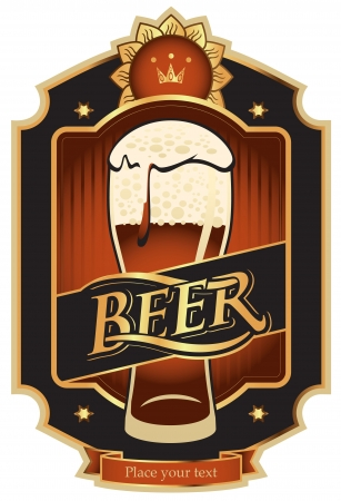 labels for the beer in the black gold color Stock Vector - 16040366