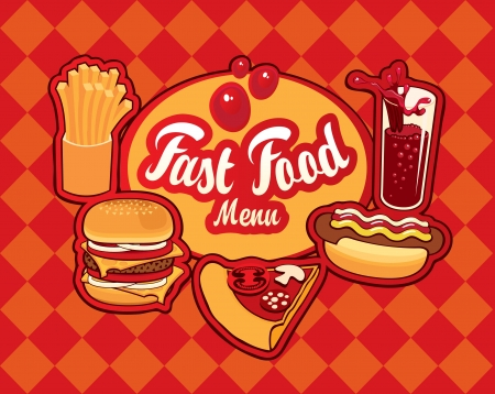 hot and cold: Cover for fast food menu