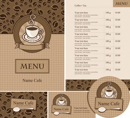set design for a cafe or restaurant Vector