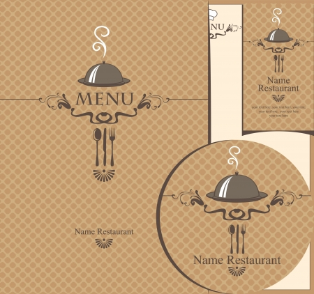set of design elements for a cafe or restaurant  Vector
