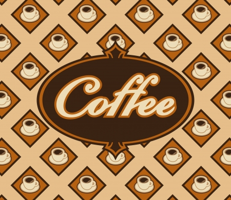 banner with coffee cups in the background Vector