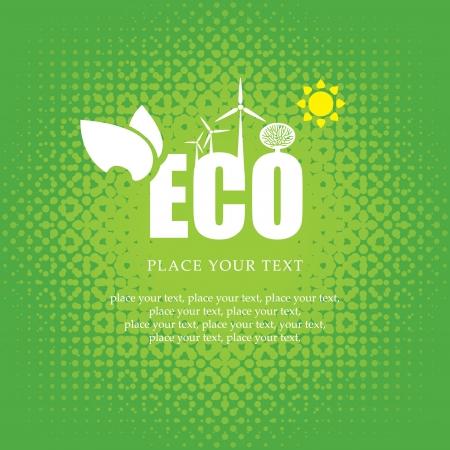 ahorrar agua: bandera eco de fuentes alternativas de energ�a Vectores