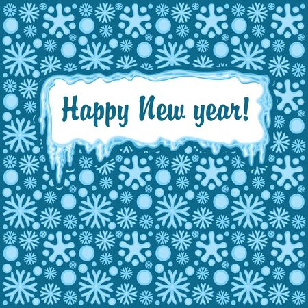 snowy background and Happy New Year Vector