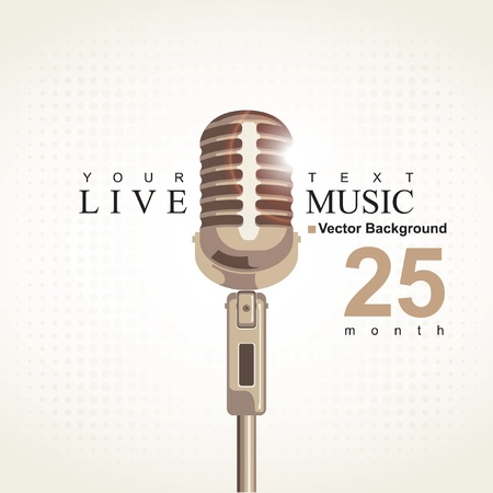 music poster with microphone Vector