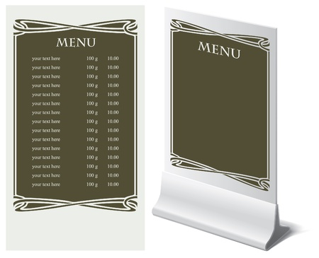 Stand and template for menu Stock Vector - 16999456