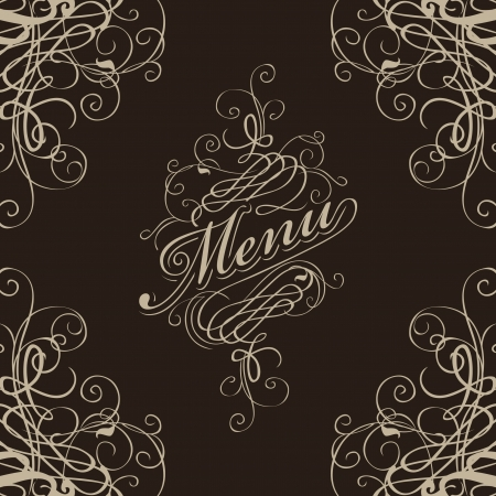 menu for the restaurant with a flourish Stock Vector - 17164474
