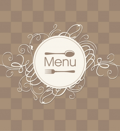 square cover for a menu with a flourish Stock Vector - 17453379