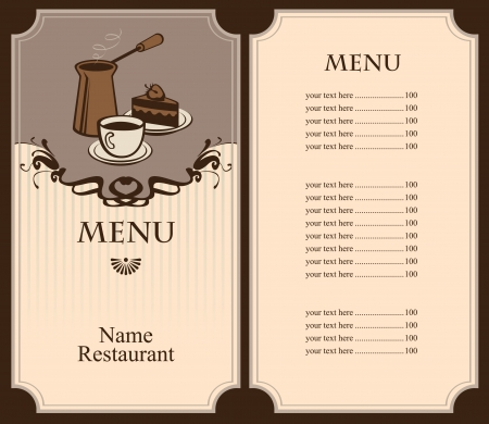 menu for coffee and dessert  Vector