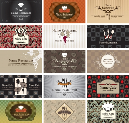 black grape: set of business cards on the topic of food and beverages