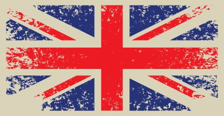 festival scales: Britain flag with grunge texture  Illustration