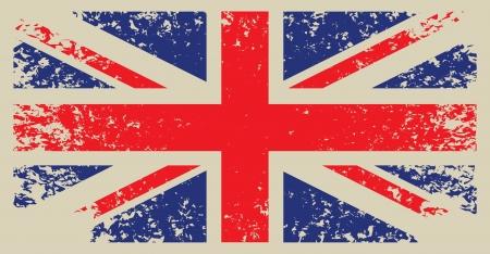 bandera de gran breta�a: Gran Breta�a, marca con textura grunge Vectores