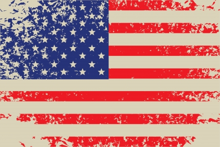 vector grunge flag of usa Stock Vector - 17453392