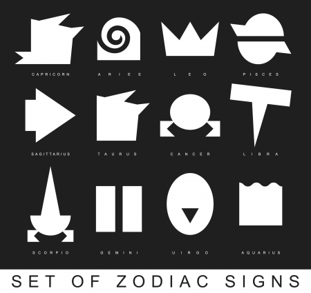 eastern zodiac: Very primitive zodiac signs vector