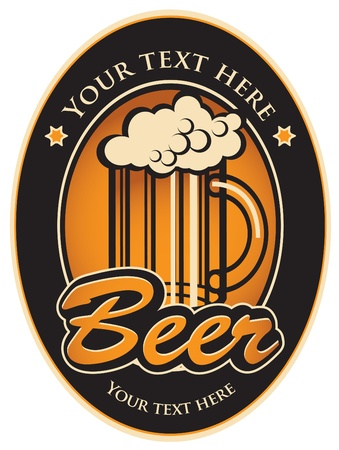 labels for the beer in the black gold color  Vector