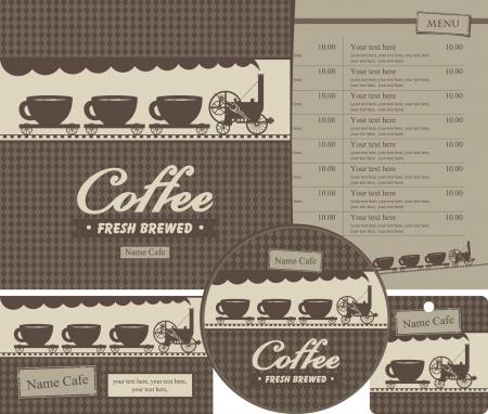 steam locomotive: set of elements for design cafe