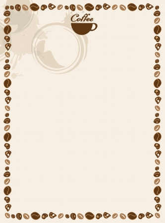 blank for coffee and tea menu  Vector