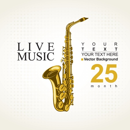 saxofon: cartel de un concierto de saxofón