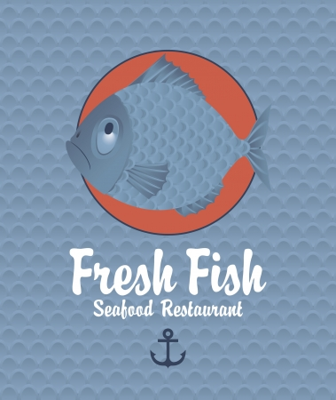 Banner on the background of the fish scales Vector