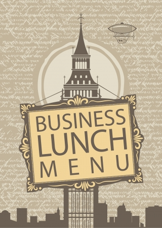 business lunch menu with the Big Ben Stock Vector - 18625147