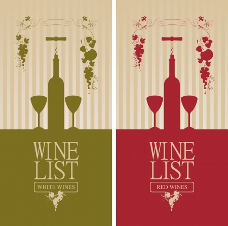banner with bottle of wine, two glasses, and vine  Stock Vector - 19314433