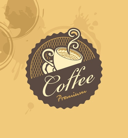 natural food: banner with a cup of coffee Illustration