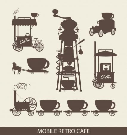caballo bebe: juego de café móvil en estilo retro