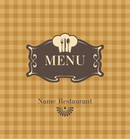 menu with a chef s hat and cutlery Vector