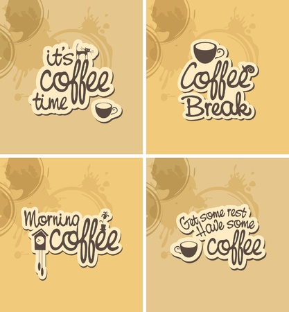 coffee breaks: Four banner for coffee breaks