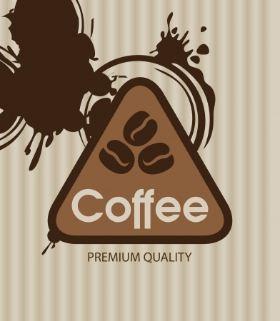 banner with coffee grains and splashes